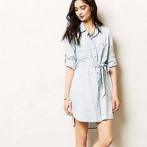 Cloth & Stone Anthropologie Ikat Chambray Dress